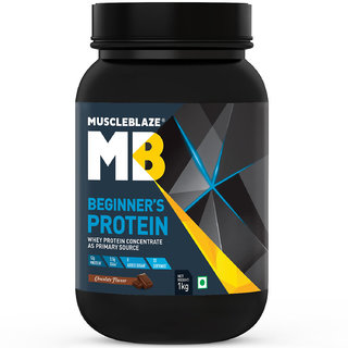 MuscleBlaze Beginners Whey Protein Supplement (Chocolate 1 Kg / 2.2 lb)