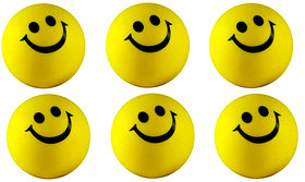 RNY Smiley Ball (Pack of 6)
