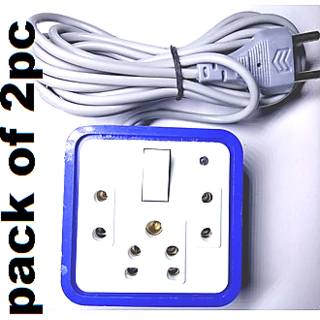 LKC 3 Socket Extension Board/Cord 1 Master Switch With LED Indicator (Pack of 2 Pc)