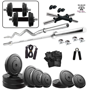 Home Gym Fitness Kit by SPORTO Fitness 30 KG Combo rubber set