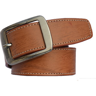 SUNSHOPPING men's tan leatherite belt. (Synthetic leather/Rexine)