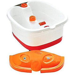Foot Spa Footbath Roller Massager for Pain Relieve and Feet Care (Orange)