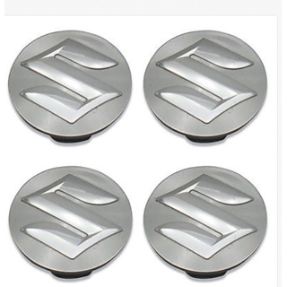 4Pcs 54mm Silver Wheel Hub Center Caps/Alloy Wheel cap/ Block Covers Emblem For Maruti  Suzuki Swift SX4 Dzire Ertiga