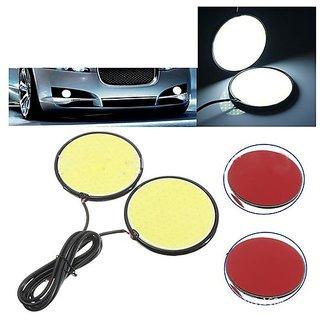 Car LED DRL Round Cob Lights(white) / Fog Lights / Day time Running Lights Universal