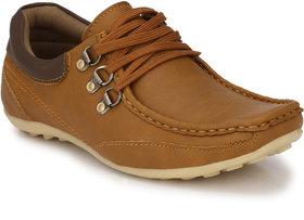 Shoe Rider Men's Tan Lace-up Outdoors Shoes
