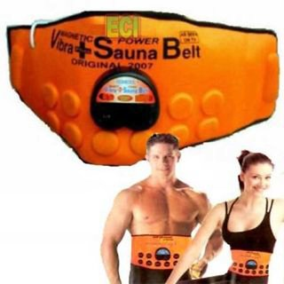 Magnetic 3 In 1 Sauna Slimming Belt (With Heating, Massaging  Vibrations Features) - Unisex (Orange Color