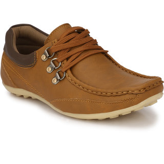 Shoe Rider Men's Tan Lace-up Outdoors Shoes