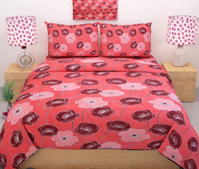 Aaris Cotton double Bedsheet With 2 Pillow Covers (LXW 90X90 Inches)
