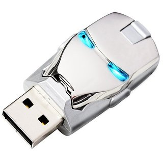 Pankreeti Silver Iron Man Glowing Eyes 32 GB Pen Drive