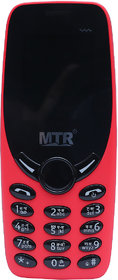 MTR MT 3330 DUAL SIM MOBILE PHONE IN RED COLOR