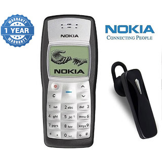 Nokia 1100 / Good Condition/ Certified Pre Owned (1 Year Warranty) with Bluetooth