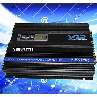 Imported heavy bass 4 channel amplifier 7600 watts
