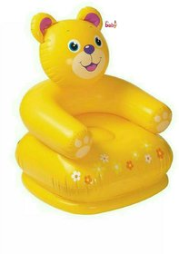 OH BABY, BABY 3D Yellow COLOR Inflatable HAPPY Teddy Bear Chair FOR YOUR KIDS SE-AT-04