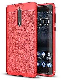 Nokia 5 Flexible Black Auto Focus Back Cover red