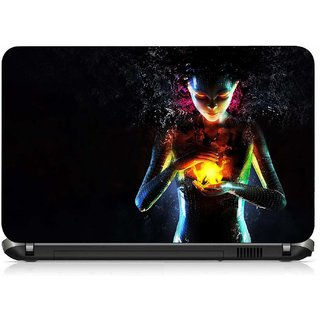 VI Collections ANIMATED GIRL HAND WITH FIRE pvc Laptop Decal 15.6
