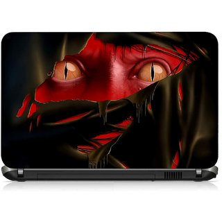 VI Collections RED FACE PRINTED VINYL Laptop Decal 15.6