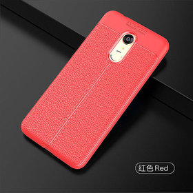 TPU Flexible Auto Focus Shock Proof Back Cover For Redmi Note 5 (red)