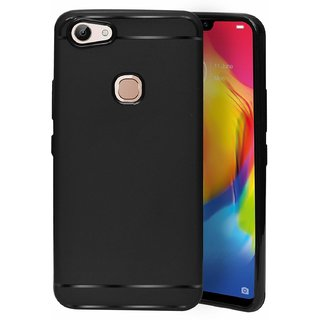 ECellStreet Protection Slim Flexible Soft Back Case Cover For Vivo Y81 (6.22 Inch) - Black
