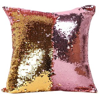 1pcs Stylish Sequin Mermaid Throw Pillow Cover with Magical Color Changing Reversible Paulette Cushion Cover 12x12 inch