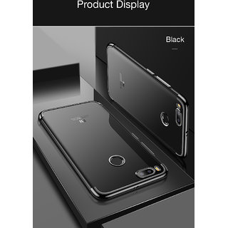 Transparent Glitter Serise Shinning Plating Design Case Cover For Xiaomi Mi A1 - Black