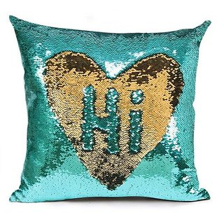1pcs Stylish Sequin Mermaid Throw Pillow Cover with Magical Color Changing Reversible Cushion Cover 12x12 inch