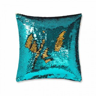 Sequin Cushion Cover Pillow Case Reversible Mermaid Touch Decor Sofa 12 Inch