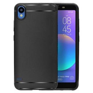 ECellStreet Protection Slim Flexible Soft Back Case Cover For Tecno Camon iAce - Black