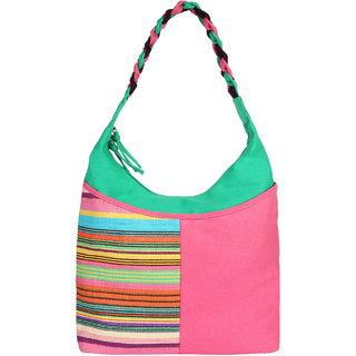 Anekaant Caliber Canvas cotton Pink Shoulder Bag