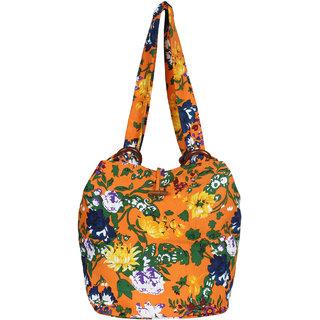 94302d6d7a 26%off Anekaant Florid Orange and multicoloured Canvas Shoulder bag