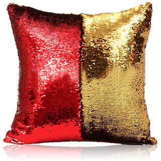 1pcs Stylish Sequin Mermaid Throw Pillow Cover with Magical Color Changing Reversible Cushion Cover 16x16 inch