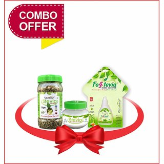 Zindagi Stevia Dry Leaves Stevia Powder And Stevia Liquid - Sugarfree Sweetener For Weight Lose (Combo Pack)