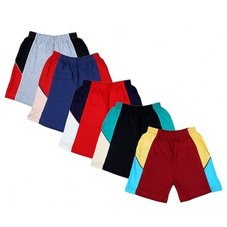 Kavin's Cotton Trendy Shorts for boys, Pack of 5, Multicolored
