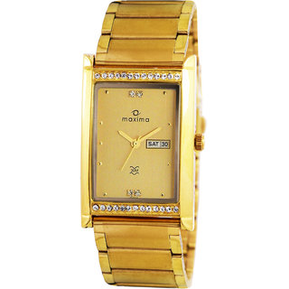 Maxima GOLD COLLECTION Men's Watch 15203CMGY