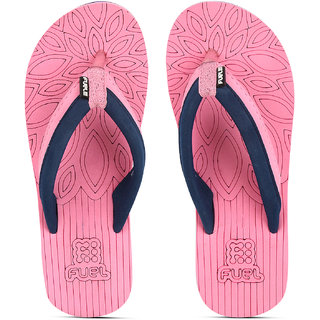 10c6c2f5c58 Buy FUEL Women s Comfortable Soft Strap House Beach Slippers Flip Flops for  Girls Online   ₹199 from ShopClues