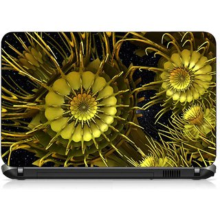 VI Collections YELLOW FLOWERS ABSTRACT IMPORTED Laptop Decal 15.6