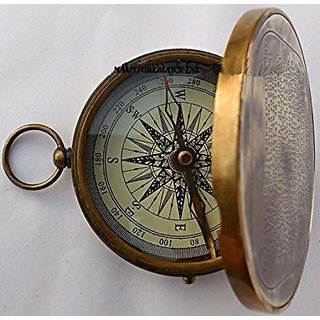 Vintage Antique Robert Frost Poem Compass