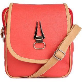 Bags for Women, Women Evening/Party, Casual, Formal, Sports Peach PU, Cotton Sling Bag