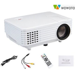 WOWOTO Rd 805 Mini LED Portable Full HD Support Home Theater USB/AV/HDMI Projector - 120 Display (with 2 year warranty)