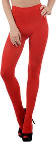 Nxt 2 Skin - Ladies Opaque Pantyhose Stockings, High Denier Super Comfortable Full Length Big Size - Red (X-Large, Black)