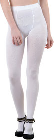 Nxt 2 Skin - Ladies Opaque Pantyhose Stockings, High Denier Super Comfortable Full Length Big Size - White (X-Large, Skin)