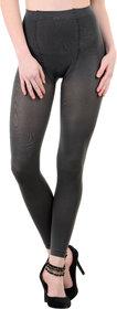 Nxt 2 Skin Ladies Footless Stocking Pantyhose, Women's Leggings Tights - Grey