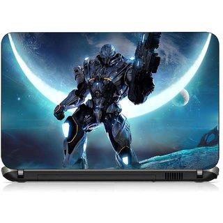 VI Collections Blue Robot pvc Laptop Decal 15.6