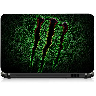 VI Collections GREEN MOSTER pvc Laptop Decal 15.6