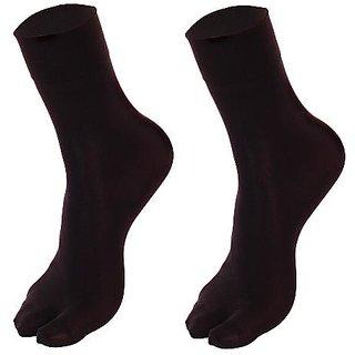 Nxt 2 Skin - Ladies Ankle Length Opaque Thumb Socks - Black(Pack of 2 pairs)