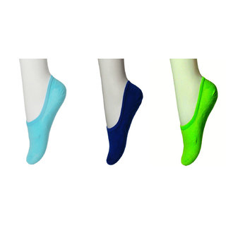 Nxt 2 Skin - Women's Cotton Hidden Loafer Socks, Ladies Invisible No Show Liners - Pack of 3 - All colors with Anti slip Silicon patch