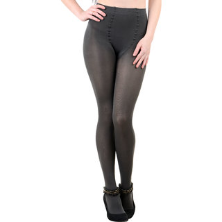 Nxt 2 Skin - Ladies Opaque Pantyhose Stockings, High Denier Super Comfortable Full Length Big Size - Grey (X-Large, Black)