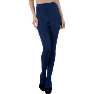 Nxt 2 Skin - Ladies Opaque Pantyhose Stockings, High Denier Super Comfortable Full Length Big Size - Navy (X-Large, Black)