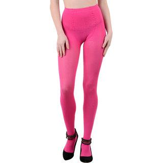 Nxt 2 Skin - Ladies Opaque Pantyhose Stockings, High Denier Super Comfortable Full Length Big Size - Pink (X-Large, Black)