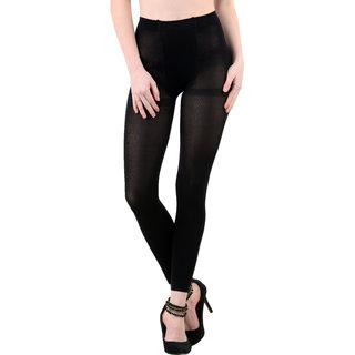 Nxt 2 Skin Ladies Footless Stocking Pantyhose, Women's Leggings Tights - Black