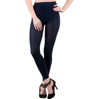 Nxt 2 Skin Ladies Footless Stocking Pantyhose, Women's Leggings Tights - Blue